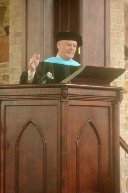 Being on the board of a seminary gives Ted the chance to speak at graduations.